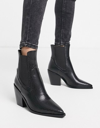 Raid Alyson western boots in black snake
