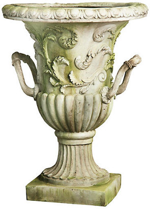 "One Kings Lane 30"" Entryway Urn - White Moss"
