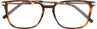 Salvatore Ferragamo Tortoiseshell Square-Frame Glasses