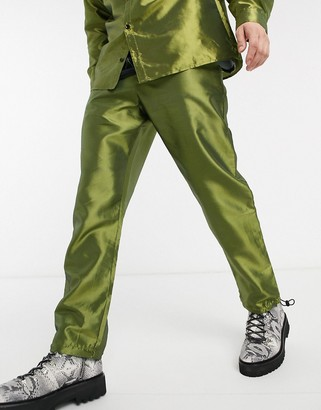 Milk It Vintage loose army pant in green