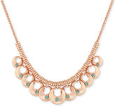 Lucky Brand Rose Gold-Tone Blue Stone Statement Necklace
