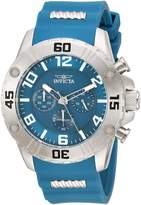Invicta Men's 'Pro Diver' Quartz Stainless Steel and Silicone Casual Watch, Color: (Model: 22697)