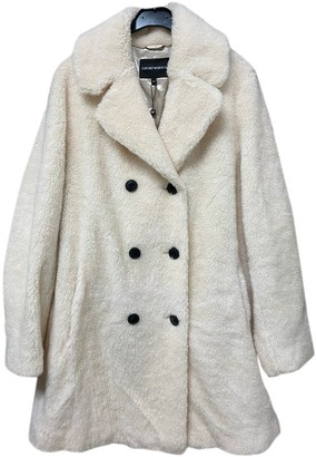Emporio Armani Beige Faux fur Coat for Women