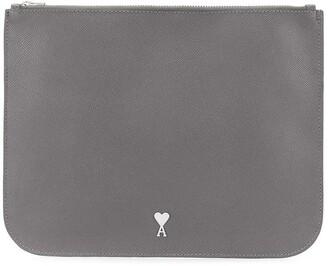 AMI Paris Ami de Coeur plaque clutch