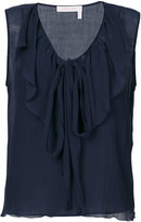 See by Chloe sleeveless ruffle blouse
