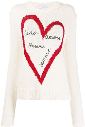 Giada Benincasa Metallic Heart Design Knitted Jumper
