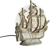 Rejuvenation Cast Metal Ship Radio Lamp w/ Etched Moon Shade
