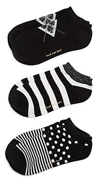 Kate Spade Multi-Pattern Liner Socks, Set of 3