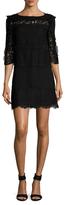 Rachel Zoe Sash 3/4 Sleeve Lace Dress