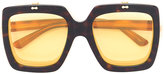 Gucci oversized drop lens sunglasses - women - Acetate - 55