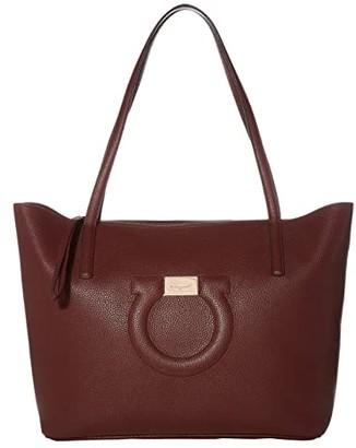 Salvatore Ferragamo City Tote (Nebbiolo) Handbags