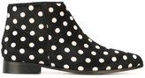 Anna Baiguera polka dot ankle boots