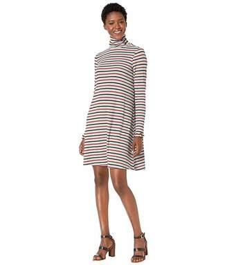 Hatley Turtleneck Dress - Melange Stripes