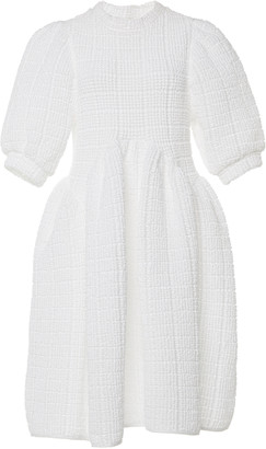 Cecilie Bahnsen Uma Paneled Cotton-Blend Terry Midi Dress