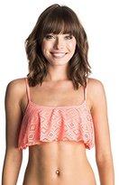 Roxy Women's Hazy Daisy Flutter Bikini Top