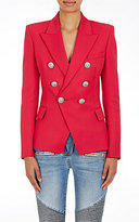 Balmain Women's Wool Double-Breasted Blazer-PINK