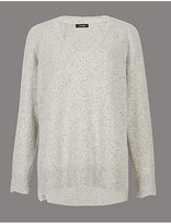 Autograph Wool Blend V-Neck Jumper