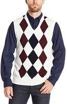 Haggar Men's Argyle Pattern V-Neck Vest