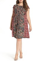 Lucky Brand Plus Size Women's Mixed Floral Print Dress