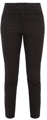 Isabel Marant Ovida Slit-cuff Cotton-blend Trousers - Womens - Black