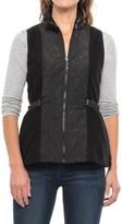 Icelandic Design Boiled Wool Lotte Vest - Zip Front (For Women)