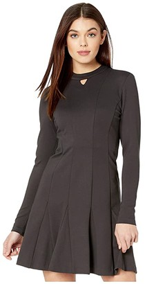 Nicole Miller Ponte Fit-and-Flare Dress (Dark) Women's Dress