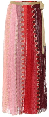 Missoni Mare Striped wrap maxi skirt