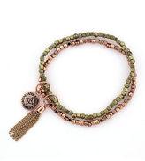 BCBGeneration Double Beaded Bracelet in Rose Goldtone