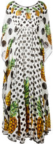 Dolce & Gabbana pineapple polka dot dress - women - Silk - 42