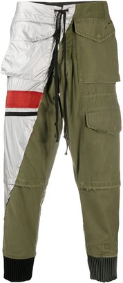 Greg Lauren Colour-Block Track Trousers
