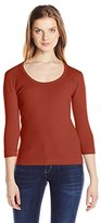 Three Dots Women's 3/4 Slv Scoop Neck Cotton Knits
