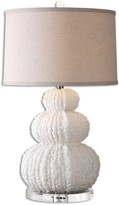The Well Appointed House Shell Ivory Finish Lamp with Crystal Details