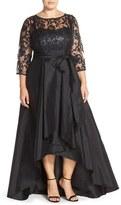 Adrianna Papell Illusion Lace & Taffeta Ballgown (Plus Size)