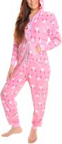 Angelina Pink Bunny Hooded Plush Pajamas