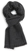 Hickey Freeman Men's Glen Plaid Wool Scarf