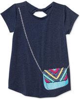Jessica Simpson Katelyn Purse-Pocket Graphic-Print T-Shirt, Big Girls (7-16)
