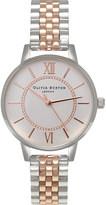 Olivia Burton Ob15wd40 Wonderland rose gold-plated stainless steel watch