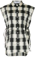 Le Ciel Bleu checked ruched waist Play shirt