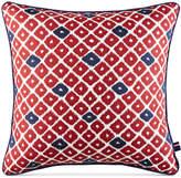 "Tommy Hilfiger Closeout! Ellis Island Diamond 18"" Square Decorative Pillow Bedding"