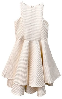 Un Deux Trois Girl's Pleated Quilted Dress