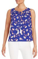 Collective Concepts Poppy-Print Top