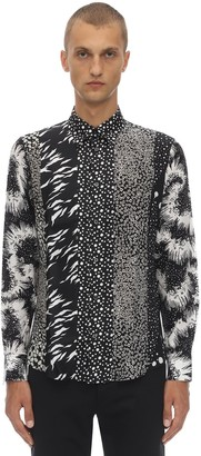 Givenchy Printed Triple Patchwork Silk Shirt