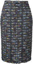 Coohem tweed pencil skirt - women - Cotton/Hemp/Nylon/Wool - 36