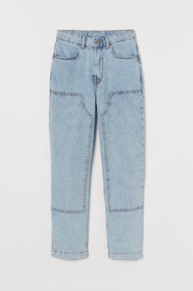 H&M Straight Patched High Jeans