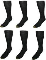 Gold Toe Men's Windsor Wool Over the Calf Socks (Pack of 6)
