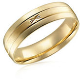 Fine Jewellery Two-Tone 10K Gold Wedding Band