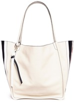 Proenza Schouler Extra large snakeskin-embossed panel leather tote