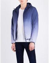 Armani Jeans Blue Half Eagle-print Reversible Shell Jacket