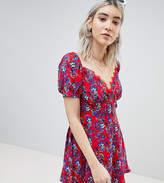 boohoo Floral Prairie Bustier Dress