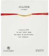 Dogeared Balance Bar Silk Bracelet Red